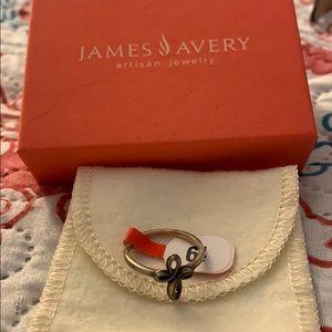 James Avery Petite Eternal Ribbon Cross Ring
